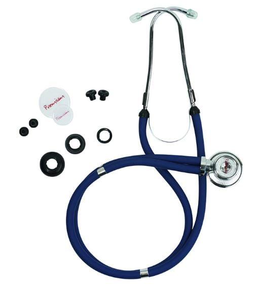 Estetoscópio Rappaport Premium com Kit de Acessórios Incluso - Azul