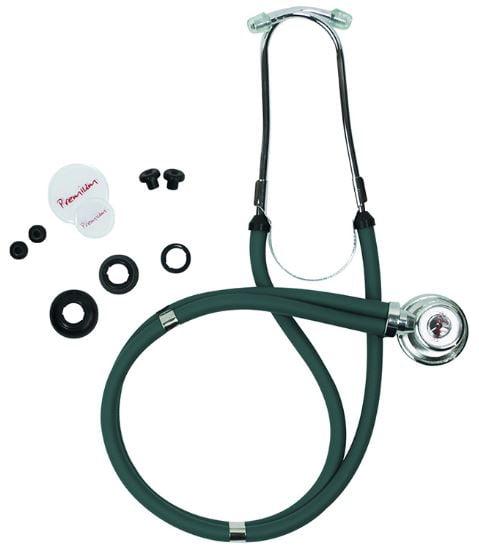 Estetoscópio Rappaport Premium com Kit de Acessórios Incluso - Verde