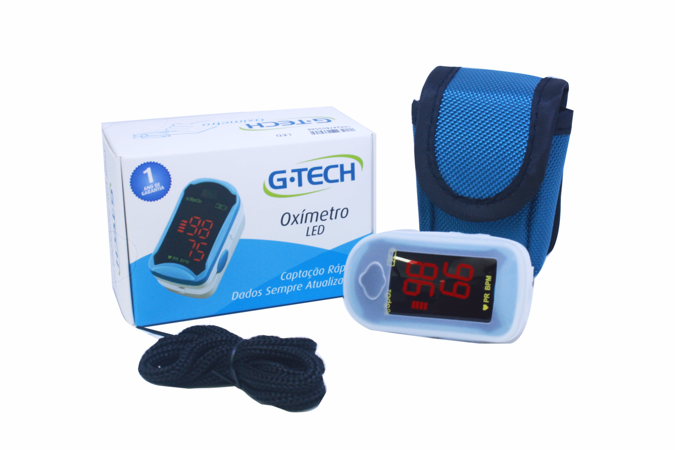 Oxímetro Digital Portátil de Dedo Modelo LED - G-tech