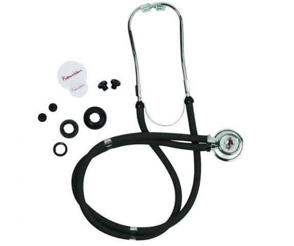 Estetoscópio Rappaport Premium com Kit de Acessórios Incluso  - Preto