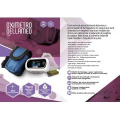 Oxímetro Digital Portátil de Pulso de Dedo Dellamed com Alarme - MD300CF3