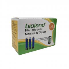 FITA TESTE MONITOR DE GLICOSE E GLICOSÍMETRO - CAIXA COM 50 TIRAS - CODE FREE - G500 - BIOLAND